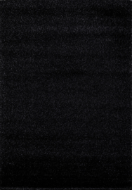 Vloerkleed Effen Shaggy  'Spacelight' Zwart