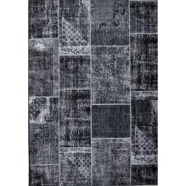 Vloerkleed VKW Attrayant Patchwork 'Havana' Antraciet 290x190cm