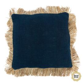 Kussen Natuurlijk  'The Saint Tropez'  Blauw/Natural 50x50cm