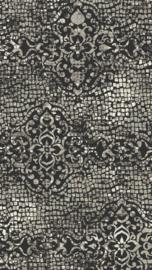 Vloerkleed Design 'Mozaic & Fresco' Grijs/Zwart