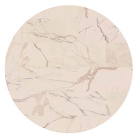 Vloerkleed Rond Sense of Marble 'Marmer'  Mocca Crema