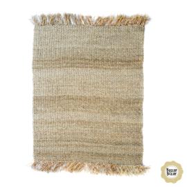 Vloerkleed Natuurlijk 'The Raffia Fringed Carpet' Natural 180x240cm