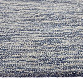 Vloerkleed VKW Scandinavisch Écrasement 'Ananya' Blauw/Grijs