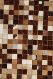 Koeienhuid Patchwork  Evita Mix Bruin 120x180cm