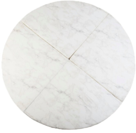 Misioo Speelmat Rond Wit Marmer 160x160cm