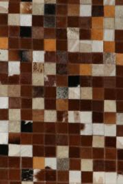 Koeienhuid Patchwork Linda Bruin 120x180cm