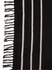 Vloerkleed Scandinavisch 'Hoi An' Wit/Zwart 120x180cm