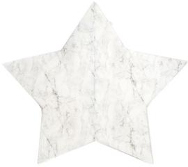 Misioo Speelmat Ster Wit Marmer 160x160cm