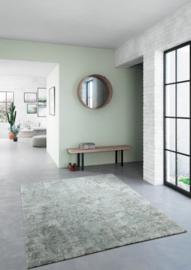 Vloerkleed Industrieel 'Sydney' Grijs/Groen 160x230cm