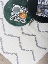 Vloerkleed Dubbelzijdig 'Ruben Etro' Crème/Grijs 160x230cm