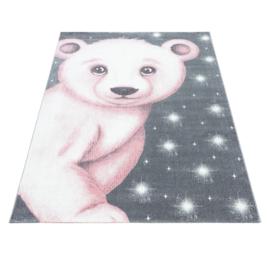 Vloerkleed VKW United Colors 'Kids Story' Polar Bear Roze