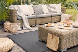 Vloerkleed Outdoor/Indoor 'Taffino Rips' Donkergrijs