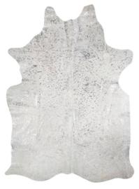 Koeienhuid Devoré  Zilver 180x200cm