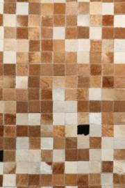 Koeienhuid Patchwork Silke Mix Beige/Crème 120x180cm