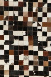 Koeienhuid Patchwork Jolijn Mix Bruin/Zwart 120x180cm