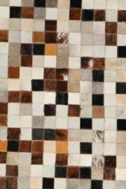 Koeienhuid Patchwork  Corrie Mix Crème/Bruin 120x180cm