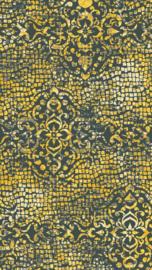 Vloerkleed Design 'Mozaic & Fresco' Antraciet/Geel