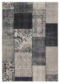 Vloerkleed Patchwork 'Milano' Zwart/Grijs