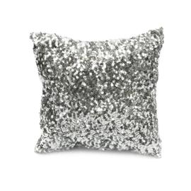 Kussen Natuurlijk  'The Glitter' Zilver 40x40cm