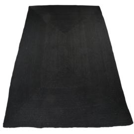 Vloerkleed Natuurlijk 'Dhaka' Zwart 120x180cm