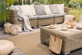 Vloerkleed Outdoor/Indoor 'Taffino Rips' Zand/Beige