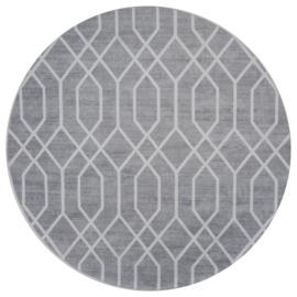 Vloerkleed Grafisch 'Pattern' Grijs Rond