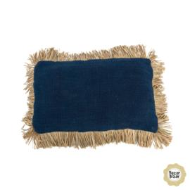 Kussen Natuurlijk  'The Saint Tropez'  Blauw/Natural 30x50cm