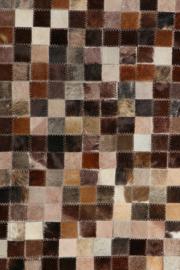 Koeienhuid Patchwork Renske Mix Lichtbruin 120x180cm
