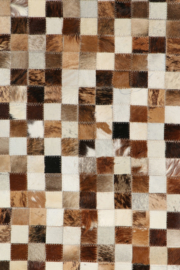 Koeienhuid Patchwork  Britta Mix Beige 120x180cm