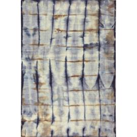 Vloerkleed VKW  Magnifique 'Hypnotic' Blauw/Oker