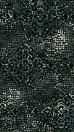 Vloerkleed Design 'Mozaic & Fresco'  Donkergrijs/Zwart