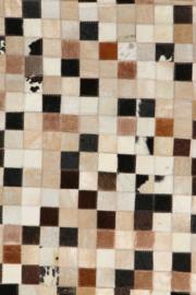 Koeienhuid Patchwork Alieke  Mix Crème/Zwart 120x180cm