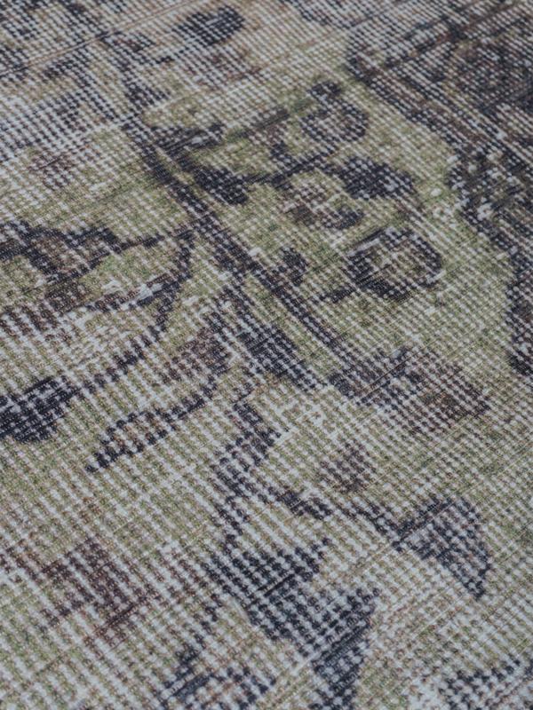 Vloerkleed Vintage 'Mila' Antraciet/Groen