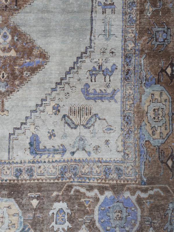 Vloerkleed Vintage 'Karaca' Blauw/Lilac