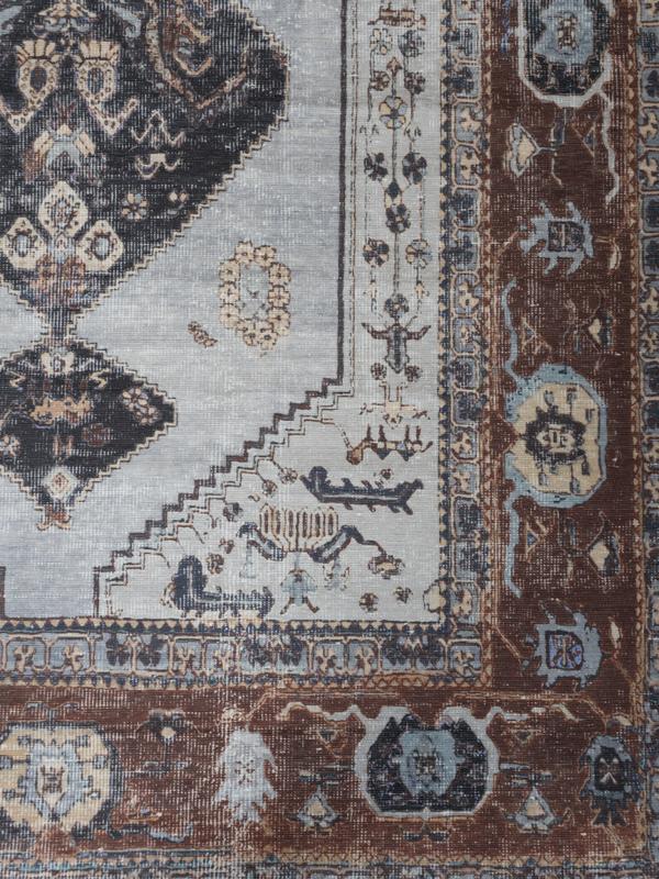 Vloerkleed Vintage 'Karaca' Antraciet