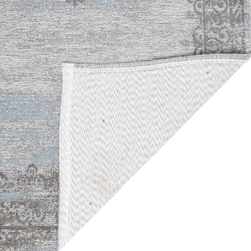 Vloerkleed Vintage 'Adel Medaillon' Lichtgrijs