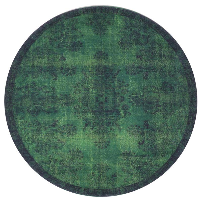 Vloerkleed Vintage 'Yves' Groen Rond