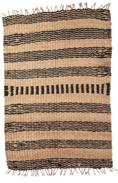 Vloerkleed Scandinavisch 'Rangpur' Naturel/Antraciet 120x180cm
