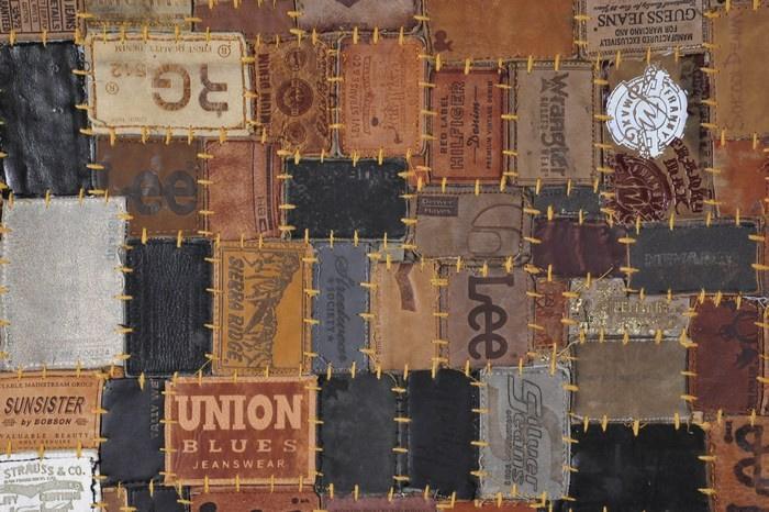 Poef 'Royal Labels' Multikleur Rond 40×40×44cm