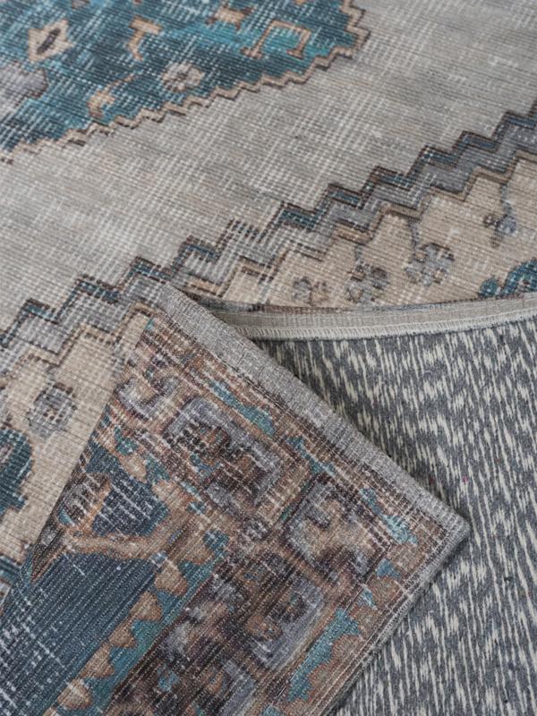 Vloerkleed Vintage 'Karaca' Blauw