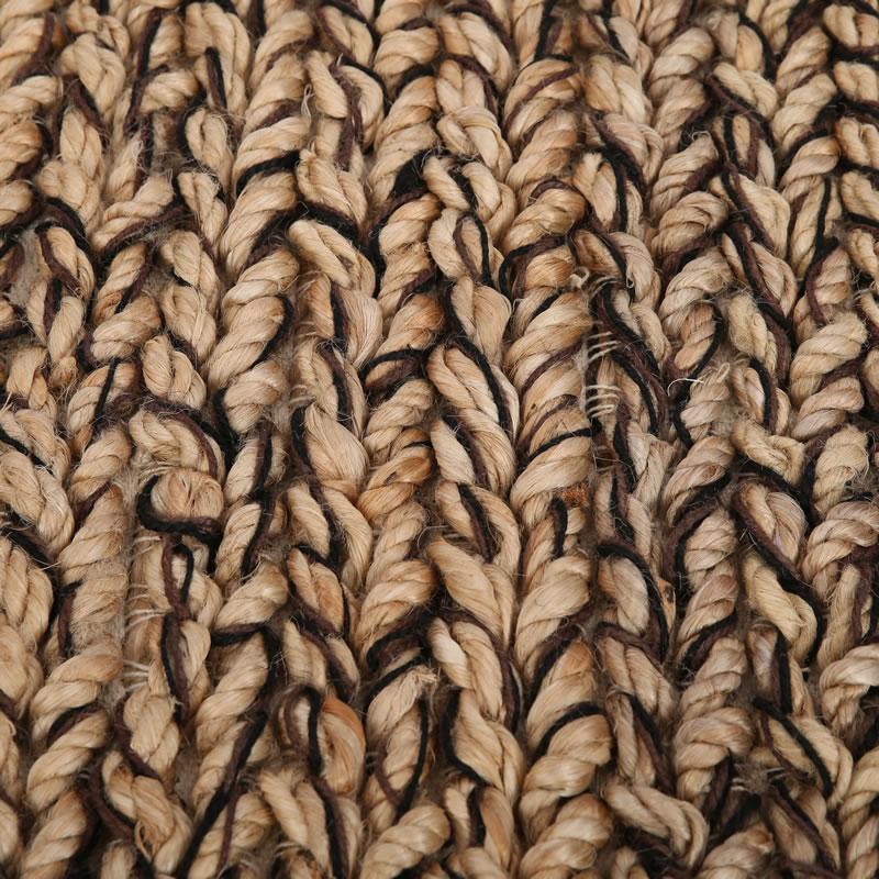 Vloerkleed Natuurlijk 'Busan' Naturel/Zwart/Bruin 120x180cm