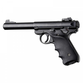 Ruger MK IV: Black Rubber Grip with Finger Grooves & Right Hand Thumb Rest Sku: 79060