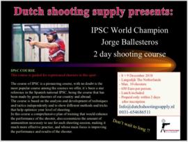 Jorge Ballesteros IPSC COURSE (HIGH LEVEL I)