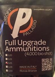 Palladio BIO BB's 0,25 gram.  4000 stuks