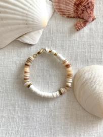 SHELL BRACELET WHITE