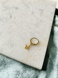 MINI INITIAL EARRING