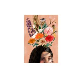 postkaart bloemen gedachte