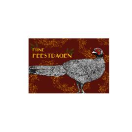 kerstkaart  fazant