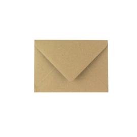 kraft envelop postkaart
