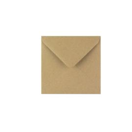 kraft envelop vierkante postkaart